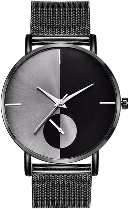 Festnight Moda Simple Reloj de Cuarzo Deportivo Elegante Malla de Metal Correa de Reloj de Pulsera Exquisito Reloj de aleación de Negocios