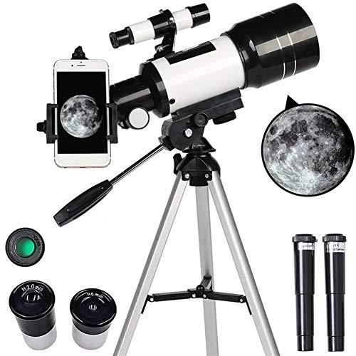 Dmx Geeignet für Anfänger Astronomische Fernrohr 70mm Öffnung 300mm Brennweite Stativ Outdoor-Camping-Teleskop,