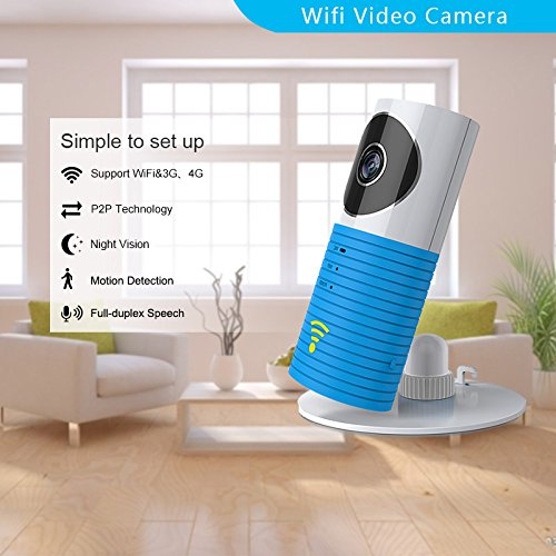 Clever dog - Telecamere di sicurezza WiFi wireless blu blu