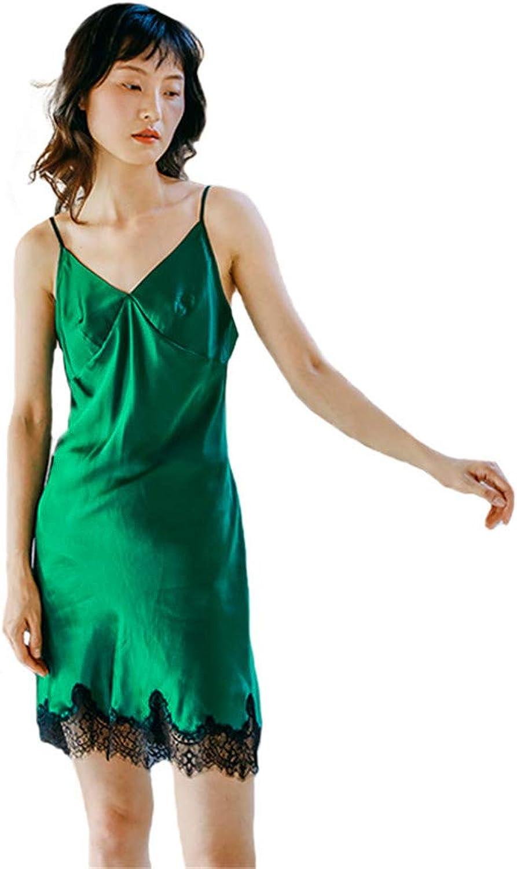 Women's Skil V Neck Nightdress Sleepwear Soft Chemises Nighties Nightgown Backless Sleeveless for Lady