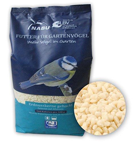 CJ Wildlife 210020615 Wildvogel-Futter Erdnusskerne gehackt 2 kg