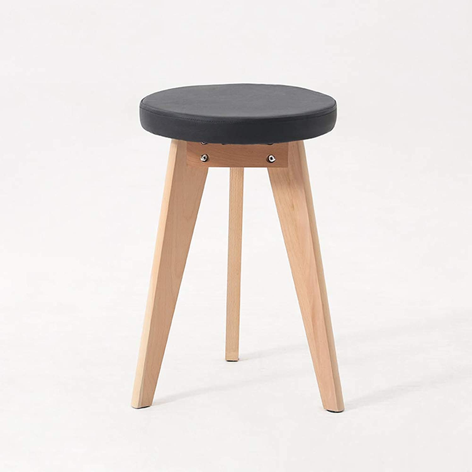 Recliner, Solid Wood Stool Living Room Bedroom Sofa Stool Creative Fabric Makeup Stool shoes Bench Stool-E