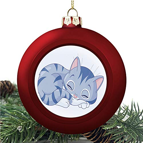SUPNON Cat Close Up | Christmas Ball Ornaments 2020 Christmas Pendant Personalized Creative Christmas Decorative Hanging Ornaments Christmas Tree Ornament №AM007040