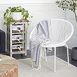Deco 79 Contemporary 30 x 29 inch Matte Round Rattan White, Outdoor Chair, 29' x 30',