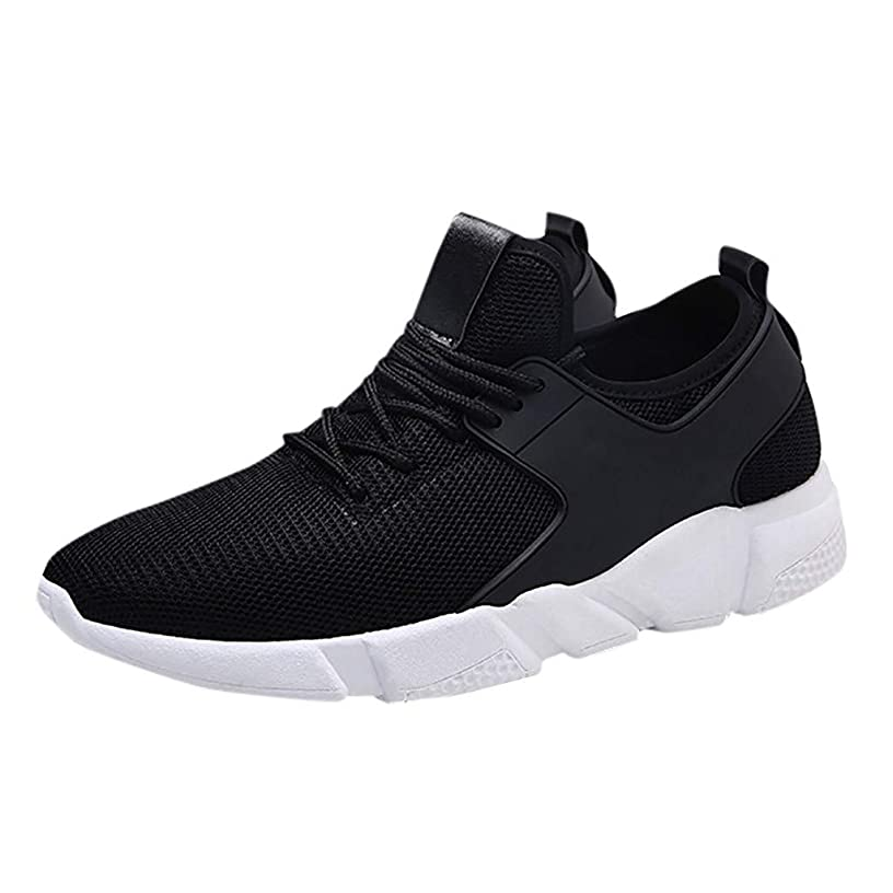 Men's Summer Breathable Lightweight Sneakers,YuhooSun Breathable Mesh Upper Fitness Gym Athletic Sports Shoes