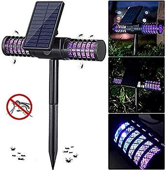 YLKCU Lampe de Moustique - Alimentation Solaire/Charge USB, ultravioletsTueur de moustiques à LED Haute Tension, pour Jardin extérieur extérieur