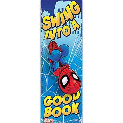 Eureka ''Swing Into a Good Book'' Marvel Spiderman Bookmarks for Kids and School Teachers, 36pcs, 2'' x 6''