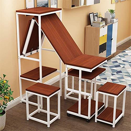 Equipo Escritorio para computadora móvil Mesa para Colocar sobre la Cama Altura Ajustable Se Puede Plegar con una Rueda giratoria con estantes de Almacenamiento para la Oficina en el hogar