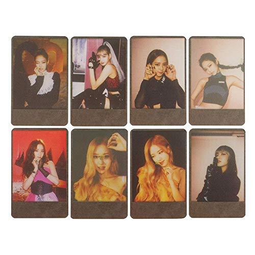Mini Office Depot 8 Pcs Kpop Blackpink New Album TÖTEN SIE DIESE LIEBE Photocard Lomo Karten, großes Geschenk für die Armee(Black)
