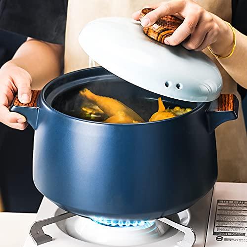 High-Value Casserole, Soup Pot, Crock Pot, Gas Stove, Open Flame Ceramic Stew Pot, Health Pot, Household High Temperature Stew Pot,dinnerware,4L