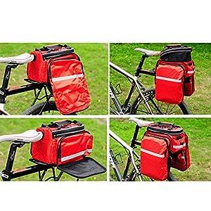 Selighting Bolsa Alforja Trasera Bicicleta Impermeable Bolso de Viaje Portátil Extensible Bolsa de Hombro para Ciclismo al Aire Libre 10L-25L