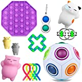 Wbeng 13 juguetes fidget para personas autismo, hiperactividad, alivio de la ansiedad, alivio del estrés y antiansiedad regalo para adultos, bolsas de fiesta