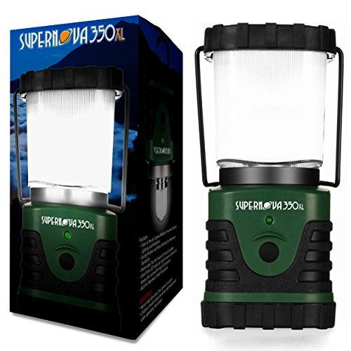 Supernova Lanterne de camping et d'urgence avec ampoule LED ultra lumineuse, 350XL