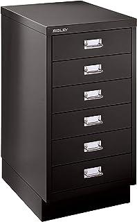 Bisley MultiDrawer™ série 39, avec socle, format A3, 6 tiroirs, noir profond | 112-AT5