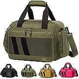 MERALIAN Range Bag Gun Case Bag Deluxe Middle Size,Tactical 2-Pistol Bag Handgun Duffle Bag with Lockable Zipper for Shooting Range.