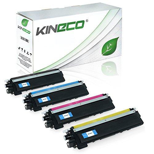 Kineco 4 Toner kompatibel für Brother TN-230 TN230 für Brother HL-3040 CNG1, MFC9120CN, DCP-9010CN, HL-3070CN, MFC-9320CW, MFC-9325CW - Schwarz 2.200 Seiten, Color je 1.400 Seiten