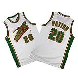 Camiseta De Hombre - Gary Payton # 20 Oklahoma City Thunder (Seattle Supersonics) Camiseta Sin Mangas De Baloncesto para Fanáticos De La Versión Retro,S165~170cm/55~65kg