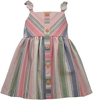 Bonnie Jean Girl's Dress - Spring Summer Sundress Striped Dress for Baby, Toddler and Little Girls