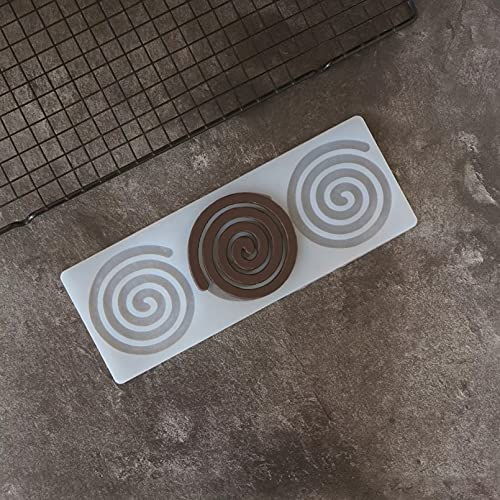 silicona Molde Molde de pastel ,Molde de silicona para chocolate con forma de Whirlpool, molde de hoja de transferencia de decoración con forma de círculo, molde para pastel, decotación superior