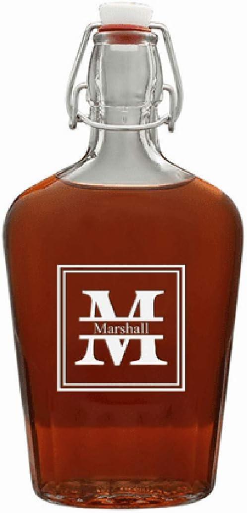 Executive Gift Shoppe Split Monogram At the price 17 Vintage Direct stock discount Flask Oz Glass