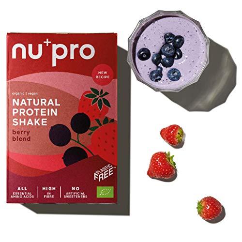 nupro 2.0 Veganes Bio Proteinpulver -Berry Blend- Ganzheitlicher Eiweiß Shake aus Pflanzlichen Proteinen zur Versorgung von Muskulatur & Darmflora [Ohne Soja, Aromen oder Süßstoff|3x200g]
