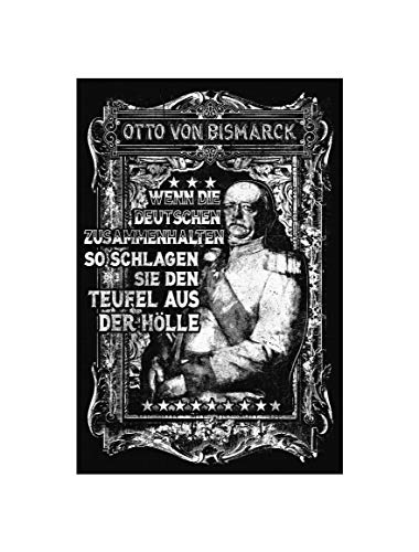 Uglyshirt89 Otto von Bismarck Premium Leinwand | Keilrahmen Bild Gemälde Wandbild Preußen Kaiser König (60 x 40 cm)