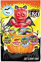 SOUR PATCH KIDS Candy (Original, Tricksters and Tropical) and SWEDISH FISH Candy Halloween Candy Variety Pack, 1 - 180...