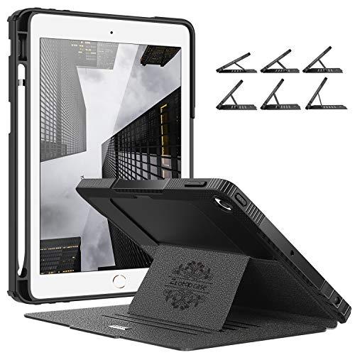 Ztotops Mehrfachwinkel Hülle für iPad 10.2 7th Generation,Stark magnetisch Schutzhülle mit Stifthalter,Stoßfest Sturzfest Hülle,Automatischem Schlaf/Aufwach,für iPad 10,2 Zoll 2019,Schwarz