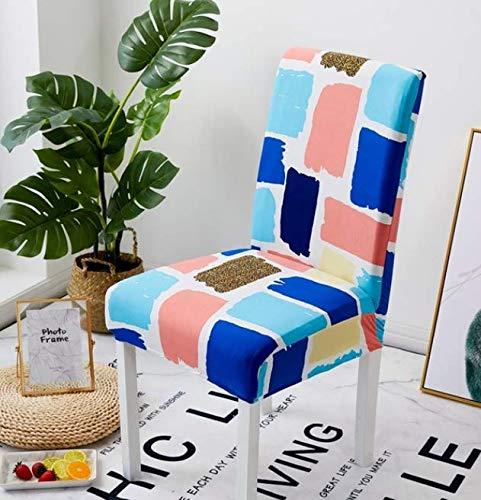 VYEKL Stretch Spandex Stuhlabdeckung Für Esszimmer Hochzeit Elastische Multifunktionale Esszimmermöbel Abdeckungen Hause 4 Stücke