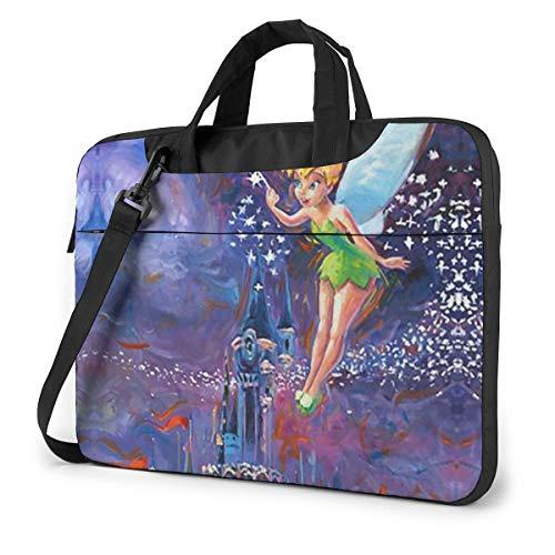 15.6 Inch Laptop Bag Tinkerbell Spreading Pixie Dust Laptop Briefcase Shoulder Messenger Bag Case Sleeve