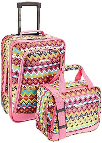 Rockland Fashion Softside Upright Luggage Set, Tribal, 2-Piece (14/20)