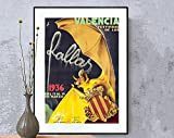 AZSTEEL Valencia Festividad De Las Fallas Vintage Travel