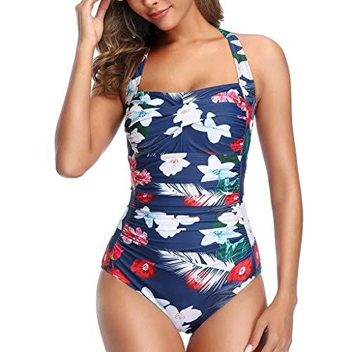 Eaylis Damen Bademode Sexy One Piece Push Up Gepolsterte Bikini Monokini Badeanzug Beachwear