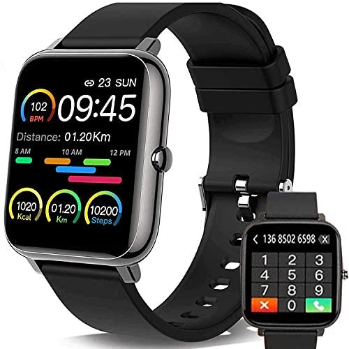 Smartwatch, Orologio Fitness Uomo Donna,Smart Watch con Contapassi Saturimetro (SpO2) Misuratore Pressione Sonno Cardiofrequenzimetro da Polso, Fitness Tracker Sport Impermeabile IP67 per Android iOS