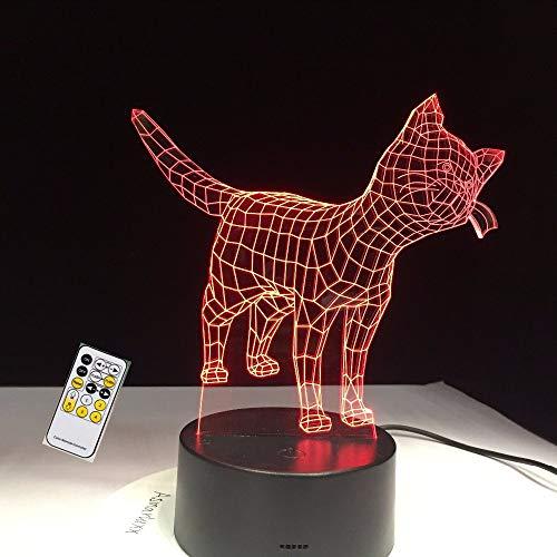 Lifme Mignon Petit Chat Kitty Animal 3D Lampe 7 Couleurs Nuit Usb Lampe Led Lumières Pour Enfants Cadeau