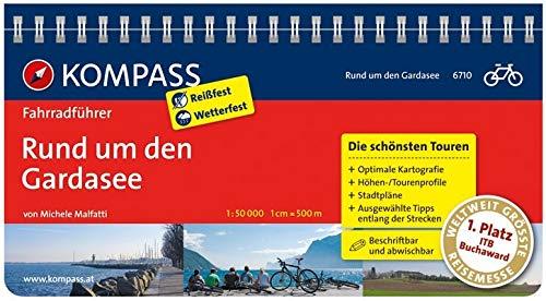 KOMPASS Fahrradführer Rund um den Gardasee: Fahrradführer mit Routenkarten im optimalen Maßstab.