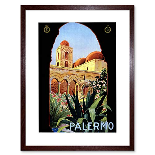 Palermo Sicily Italy Sun Norman Palace AD Art Frame Print Picture F12X1287