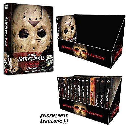 His Name was Jason (wattiertes Mediabook 3-Disc Lim. Special Ed.+ Freitag der 13. BOX (stabiler Schuber, Lederkaschiert für 14 Mediabooks) DVD + Blu-ray