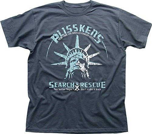 Snake Plissken Escape from New York Search and Rescue Charcoal T-Shirt 9195