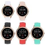 LvBu Armband Kompatibel Für Fossil Damen Gen 5E Samartwatch, Sport Silikon Classic Ersatz Uhrenarmband Für Fossil Damen Gen 5E Samartwatch Smartwatch (5 Pack)