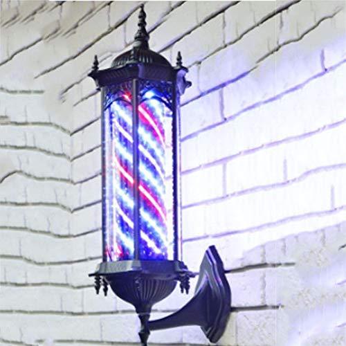 Light Sign Barberos Al Aire Libre Barras De LED Tiras Giratorias Peluquería Luz Peluquería Giratoria Luz del Salón Luz Muy Grande, Ahorro De Energía, Hermoso Patio Y Decoración De Paredes Retro,65Cm