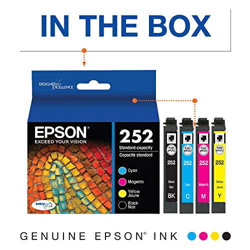 Epson T252120-BCS DURABrite Ultra Black & Color Combo Pack Standard Capacity Cartridge Ink,Black and Color Combo Pack Photo #7