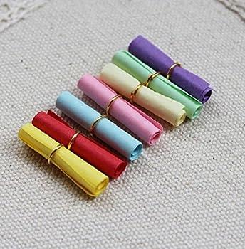 Geo de Livraison x 50x Vrac UNBEDRUCKT enroulé tombola Anniversaire d'enfant, Multicolore, 3x 5x 1cm/One Size