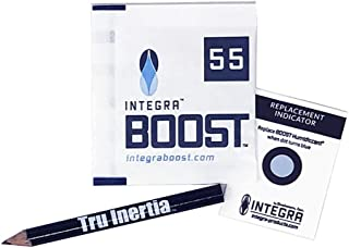 Integra Boost 8g Humidiccant Bulk 55% (36/Pack) – 2-Way Humidity Control Packs – Includes 36 Replacement Indicator Cards and Tru Inertia Pencil