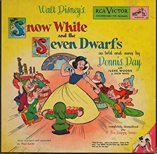 Disney - Snow White And The Seven Dwarfs - as told and sung by Dennis Day with Irene Woods as Snow White (2 vinyl EP records in picture book album) -45 rpm