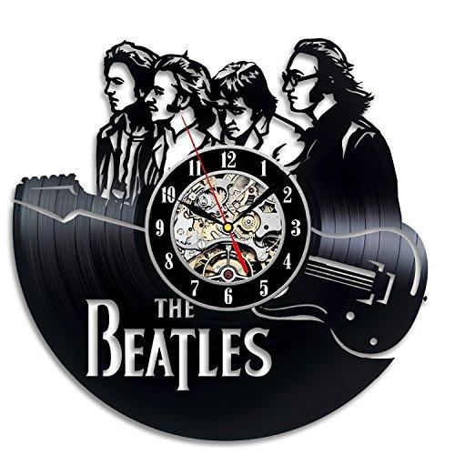 Meet Beauty Ding The Beatles Vinilo Reloj de Pared Decoración de la Habitación de los Niños Moderno - Regalo para Las Vacaciones de Navidad Hombres Niños