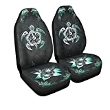 VTH Global Hawaiian Print Tribal Blue Sea Turtles Tropical Hibiscus Flower Hawaii Airbag Compatible Seat Covers Car Accessories Size Universal Fit for Most Cars SUV Truck