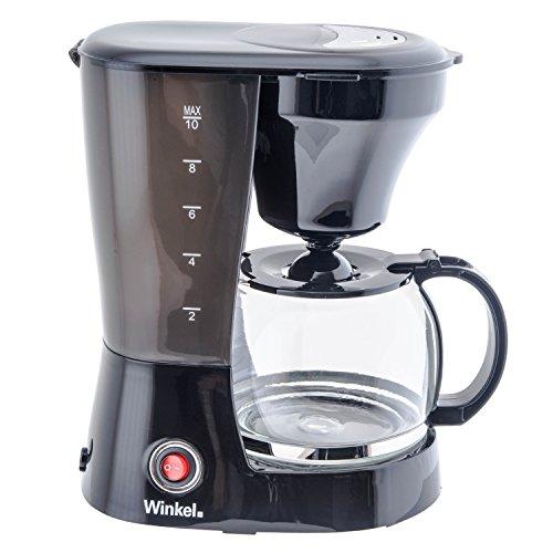 H.Koenig WINKEL KF12 Máquina de café 10-12 Tazas, 800 W, 1,25 l, Negro