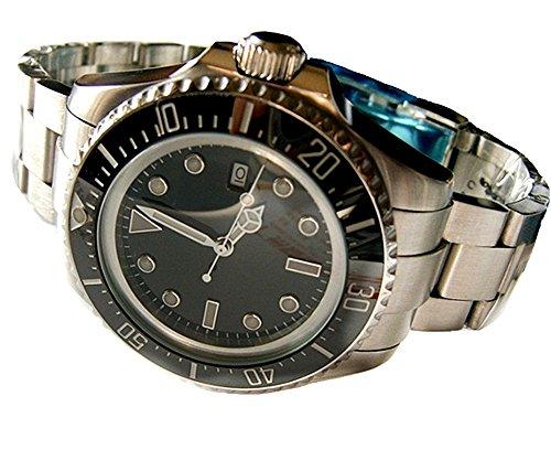 Tickwatch Bliger 47 mm Deep Sea Dweller Reloj de pulsera para hombre con bisel de cristal de zafiro