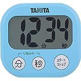 タニタ キッチン タイマー マグネット付き 大画面 100分 ブルー TD-384 BL でか見えタイマー